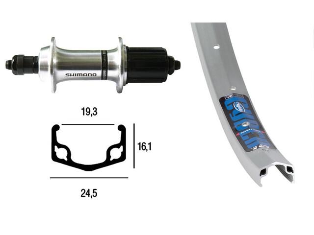 Ryde Apex H-Rad 28 x 1.75 mit Nabe RM-30 7-Fach silber